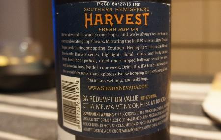 sierra nevada southern hemisphere harvest fresh hop ipa 5