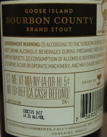 goose island bourbon county brand stout 5