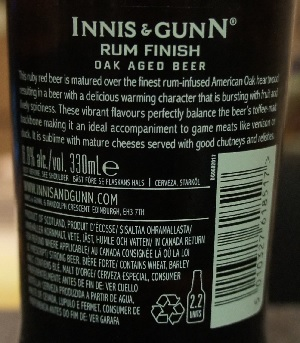 innis & gunn rum finish oak aged beer 4