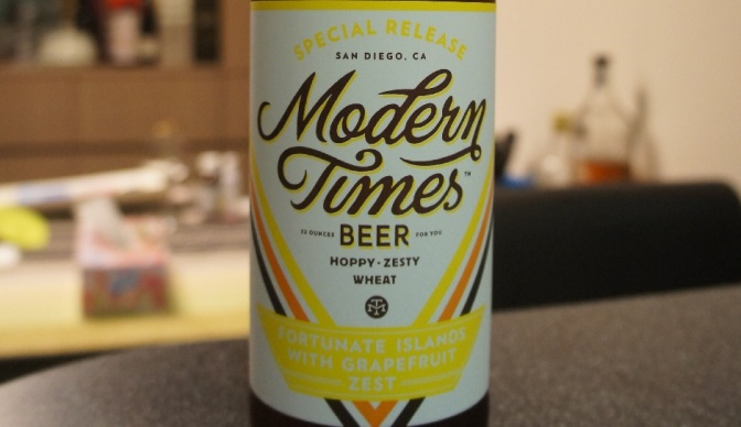 Modern Times Fortunate Islands with Grapefruit Zest