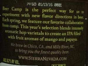 sierra nevada beer camp (2016) tropical ipa 4