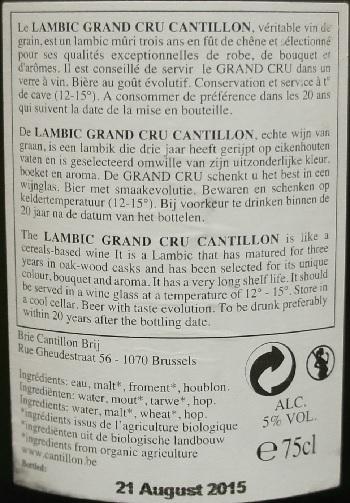 cantillon bruocsella grand cru 3