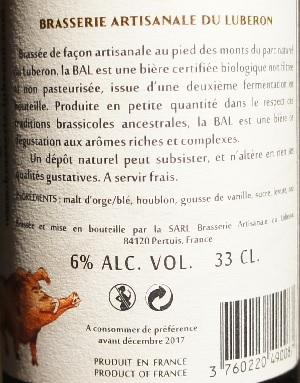 artisanale du luberon b.a.l la babe ale 4