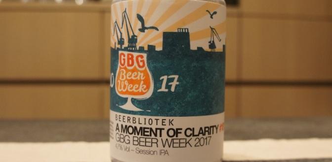Beerbliotek A Moment of Clarity GBG Beer Week 2017