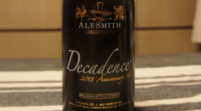 AleSmith Decadence 2015