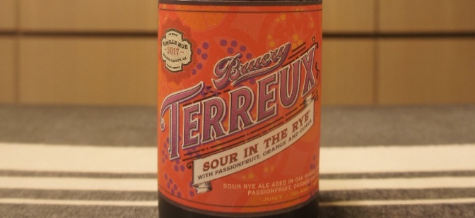 Bruery Terreux Sour In The Rye with Passionfruit, Orange and Guava