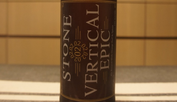 Stone 20th Anniversary Encore Series: 02.02.02 Vertical Epic Ale
