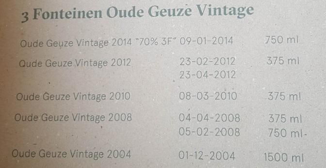 3 Fonteinen Oude Geuze Vintage