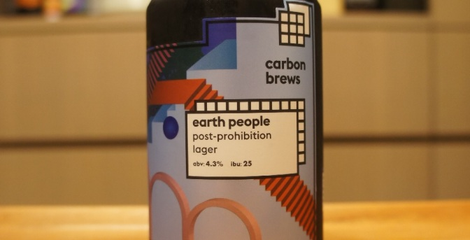 Carbon Brews Earth People Post-Prohibition Lager