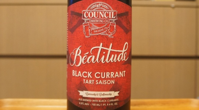 Council Béatitude Black Currant Tart Saison