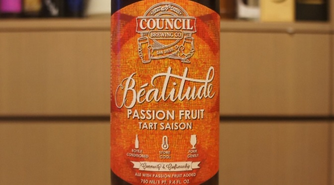 Council Béatitude Passion Fruit Tart Saison