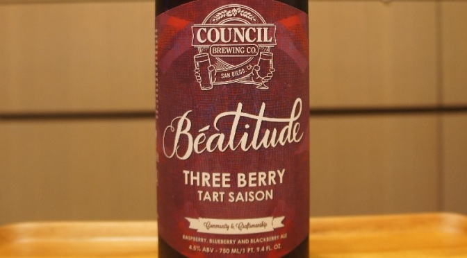 Council Béatitude Three Berry Tart Saison